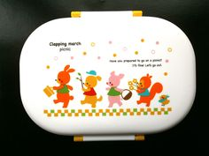 Animal Bento Box 1 Tier Clapping March Picnic Pink