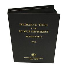 Ishihara Test Chart Book for Color Blindness - 38 Plate: Color Vision Testing: Vision Assessment: Amcon Labs - The Eyecare Supply Center Lab Supplies, Personalized Products, Labs, Assessment, Blinds, Chart, Books, Color, Sunroom Blinds