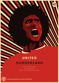 Match poster. Manchester United vs Sunderland, 28 February 2015. Designed by @Manchester United.