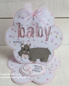 Anja Zom kaartenblog: Hippo hoera!! Marianne Design Cards, Easel Cards, Love Cards, Baby Cards, Poster, Card Making, Place Card Holders, Baby Shower, Prints