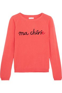 Chinti and Parker - Ma Chérie Intarsia Cashmere Sweater - Coral
