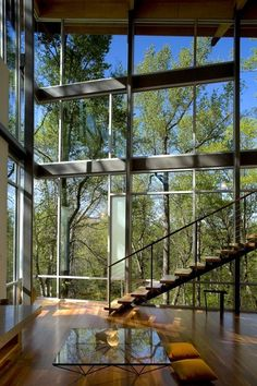 Interior from Strickland-Ferris Residence. Architects: Frank Harmon Architect PA. Location: Raleigh, NC, USA