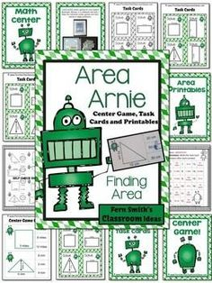 Area Arnie Mega Math Pack - Finding Area Printables, Center Game and Task Cards Area Arnie Mega Math Pack - Finding Area Printables, Center Game and Task Cards #TPT $Paid #FernSmithsClassroomIdeas