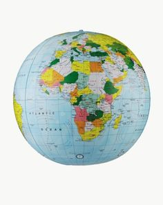 Replogle Globes Inflatable Political Globe, Light Blue Ocean, 12-Inch Diameter - List price: $23.99 Price: $7.95 Saving: $16.04 (67%) + Free Shipping