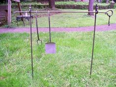 Currently I do tri pods, trammels and squirrel forks. I plan on moving into cook sets and attachments. Large tri pods are made from square stock and stand I use of steel to make Utensil Racks, Camp Gear, Blacksmithing, Hearth, Squirrel, Garden Tools, Black Smith, Campfires, Camping