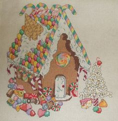 Gingerbread House cross stitch I made.