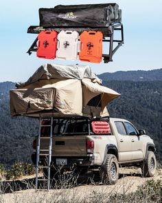 Toyota Tacoma Bed Rack - - One of our favorite overland bed racks for the toyota tacoma! Tacoma Tent, Tacoma Bed Rack, Tacoma Truck, Tacoma Wheels, Tacoma Bumper, Overland Tacoma, Overland Truck, Overland Gear, Truck Tent