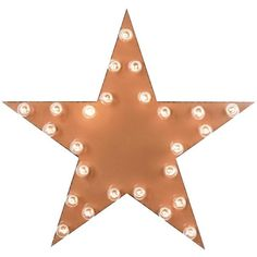 Dot & Bo Star Marquee Sign ($99) ❤ liked on Polyvore featuring home, home decor, wall art, filler, backgrounds, extra, lamps, metal star wall art, orange home decor and star signs