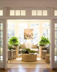 37 Amazing Sunroom Design Ideas - Sunrooms are as popular as ever which makes for a multitude of sunroom ideas. Not to be confused with a four season room, sunroom designs rely on the . Style At Home, Interior Exterior, Interior Design, Interior Doors, Exterior Windows, Four Seasons Room, House Seasons, 4 Season Room, Sunroom Decorating