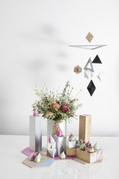 Knot & Pop Weddings - Geometric Goodies - Table Setting