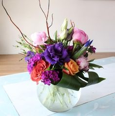 Flower delivery in Orange by Orange florist - Peonies bubble bowl with some other goodies.   *Flowers and vases may vary*  **Please be speci...