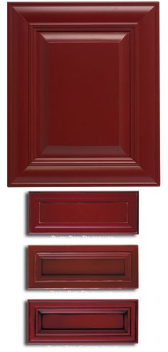 Paints and Finishes: Maple - Barn Red | More kitchen remodeling ideas here: http://kitchendesigncolumbusohio.com/kitchen-ideas.html