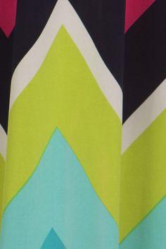 Multicolored Chevron Print Maxi Dress
