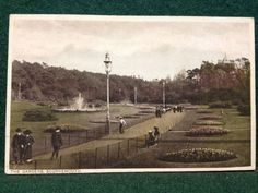 Antique Postcard - The Gardens, Bournemouth - Coloured