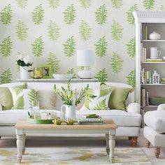 Foliage green living room | Decorating with teal and green | 10 of the best | Room Ideas | Housetohome