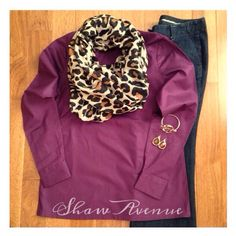 Shaw Avenue || Scarf - AmyAnneApparel on Etsy || Top - Kate Spade (found at TJ Maxx) || Pants - Ann Taylor || Earrings & Bracelet - Target. www.shawave.com