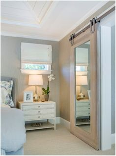 Bathroom Mirror Door love this mirrored barn door for a master bedroom! | bedroom