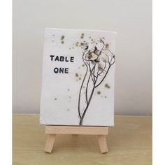 Rustic Daisies Ceramic Table Number Tile
