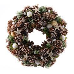 Couronne de Noël décorée Etoilée - Couronne de Noël - Eminza