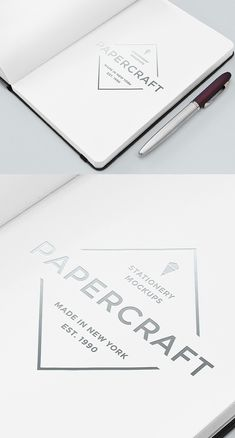 Free Notebook With Logo Mockup | alienvalley.com | #free #photoshop #mockup