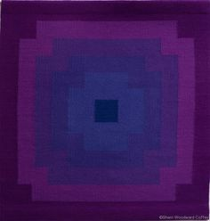 Purple Haze, hand-dyed wool yarns, tapestry, 38.5 x 38.5 inches $495   ©Sherri Woodard Coffey