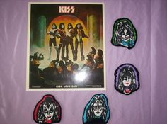 KISS   Set of 4 Embroidery Patches of band members by AncientArt