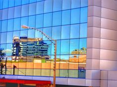 Reflections A modern glass building in Hamilton reflecting some of the older buildings. I loved the abstract look in the windows. - #stusroadtrips #photooftheday #photo #photograph #picture #steel #relfection #urban #perspective #technology #light #windows #futuristic #city #building #glass #modern #business #contemporary #architecture