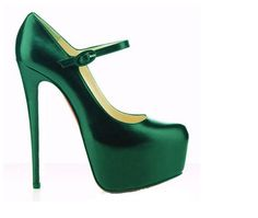 Christian Louboutin Daffodile 160mm Satin Pumps Green $168.00  http://www.christianlouboutinsany.com/sale/Christian-Louboutin-Daffodile-160mm-Satin-Pumps-Green-876.html