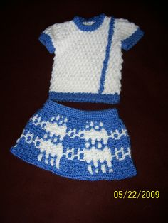 12 month size skirt and top crocheted