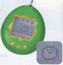 """""""Vintage 1990s Toy Tamagotchi"""" - That's what somebody said about this pin.  I am now...""""vintage""""...*tear*...mine was like this but pink where the yellow was.  Oh I shepherded my Tomagotchi through many a trying time."""