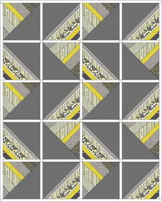 Two quilt ideas using Citron Grey fabric from Michael Miller - would look great with similar lines