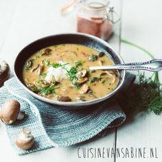 Hongaarse champignonsoep - Cuisinevansabine.nl