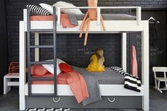 Things that make you go oooh: these gorgeous, minimalist bunk beds made by Melbourne's House of Orange! With their cool Scandinavian vibe, these made-to-order beds…