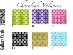 Coral  Valance. Coral Geometric Valance. Valance by GallaryVerde