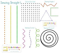 Great set of printables & lessons on teaching kids beginning sewing w machine.  Can't wait to get started on this! :)