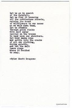 Typewriter Series #722 by Tyler Knott Gregson