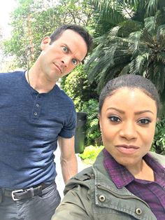 Putting their best faces forward. NCIS: New Orleans Star Shalita Grant and Ncis Series, Tv Series, Victor Ortiz, Ncis Characters, Gibbs Rules, Lucas Black, Designated Survivor, Ncis New, Michael Weatherly