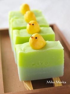 Handmade Soap with Hand Carved Soap Chicks by My Life with Knife