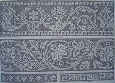 5 - Igla i konac Filet Crochet Charts, Crochet Doily Patterns, Knitting Charts, Weaving Patterns, Knitting Stitches, Crochet Doilies, Knitting Patterns, Beaded Embroidery, Cross Stitch Embroidery