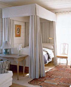 Swedish Country Bedroom Love The Gingham Headboard
