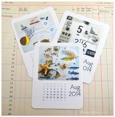 Free Printable August Mini Calendar from Vintage Glam Studio