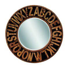 Alphabet Wall Mirror - love!