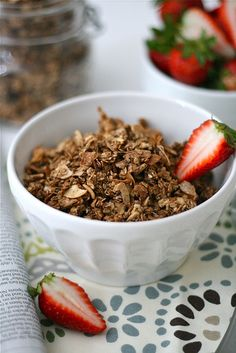 Chocolate Almond Granola Final 1 by laurenslatest, via Flickr. Not normally a coconut fan but I think this sounds great!