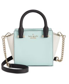 kate spade new yorks baby Hayden bag proves less truly is more in signature crosshatched leather with bright gold-plated hardware and just enough room for evening essentials like a lipstick and compa