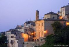 Grottammare alta: one of the most beautiful villages in Italy., province of Ascoli Piceno , Marche region Italy