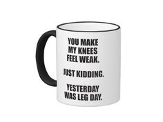 If you love coffee and working out you'll love these hilarious coffee mugs. Start your day off right and wake up with a smile with one of these cute and funny fitness coffee themed mugs.