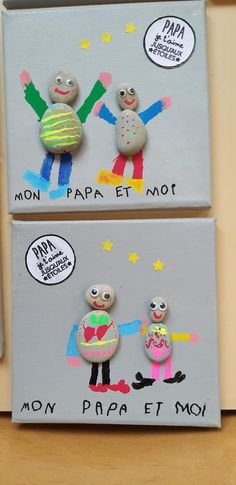 crafts for daycare Diy Cadeau Maitresse, Diy For Kids, Crafts For Kids, Tiki Faces, Cadeau Parents, Daycare Crafts, Collaborative Art, Kids Patterns, Gifts For Your Mom
