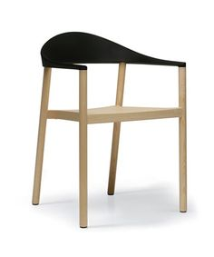 Grcic chair in wood + plastic top.