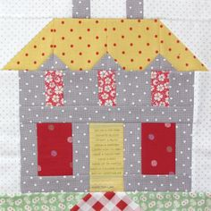 Sewing Block Quilts Bee In My Bonnet: My Home Sweet Home Quilt Block Pattern - In Quiltmakers Magazine 100 Blocks! House Quilt Patterns, House Quilt Block, House Quilts, Barn Quilts, Quilt Block Patterns, Pattern Blocks, Quilt Blocks, Paper Piecing, Quilting Projects