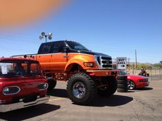 Ford Monster truck. www.CustomTruckPartsInc.com is one of the largest Truck accessories retailer in Western Canada #CustomTruckParts #pickups #pickuptruck